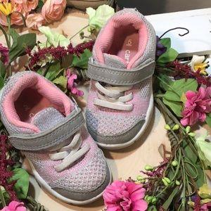 Carters Pink & Silver Girls Sneakers sz 5